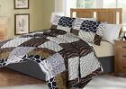 Printed Animal Designs Bedspread Coverlet Quilt 2 3 Piece Set with Pillow Shams