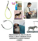 Внешний вид - STEEL CABLE CHOKER Choke NOOSE RESTRAINT LOOP For Grooming Table Arm,Tub,Bath