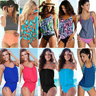 two piece suites - Womens Two Piece Tankini Set Push-up Top + Brief Swimsuit Bathing Suit Beachwear