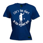 Fishing Lifes Too Short Without Beer  fish rod reel funny Birthday T-SHIRT
