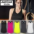 Womens TriDri Fitness Double Strap Running Vest Ladies Gym Sleeveless Sports Top