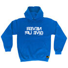Gym Hoodie Never Give Up hoody bodybuilding training funny Birthday HOODY