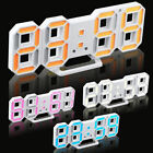 3D Modern Design Digital LED Wall Clock Alarm Table 12/24 Hour Display Snooze