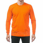 Pro Club Heavy Cotton Long Sleeve Crew Neck T Shirt Mens Blank Casual Plain Tee