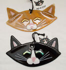 Made-in-the-USA Fused Glass Cat Head w/ Dichroic Eyes Ornament by Char Behrens