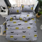 Batman Kids Bedding Duvet Cover Set Pillow Case Cartoon Twin Full Queen King Bed