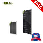 10W 20W 100W Mono Solar Panel 12V Off Grid Battery Charger Camping Caravan Boat