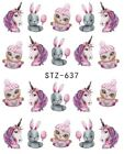 Nail Stickers Water Decals Transfers Unicorns Dreamcatchers Feathers Flamingos
