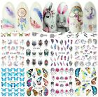Kyпить Nail Stickers Water Decals Transfers Unicorns Feathers Flamingos Butterflies на еВаy.соm