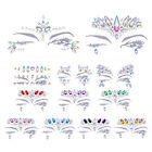 Temporary Tattoo Face Gems Jewels Rhinestone Glitter Forehead Eye Nail Art Decor