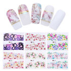 3 Sheets Nail Art Water Decals Flower Series Rose Manicure Transfer Stickers