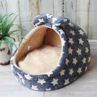 Soft Cozy Sweet Half Covered Pet Dog Cat Tent House Sofa Bed Cushion S,M,L
