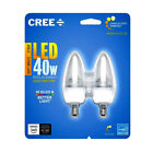 cree 5w - 2 Bulbs CREE LED 5W Soft White CANDELABRA DIMMABLE 2700K Led Candle Light Bulb