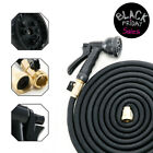 Deluxe 25 50 100 Feet Expandable Flexible Garden Water Hose w/ Spray Nozzle