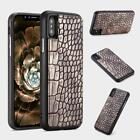 Luxury Crocodile Pattern Shockproof Back Case Cover Full Protector For iPhone X