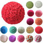 20/25cm Artificial Flowers Rose Flower Balls Topiary Hanging Basket Plant Home
