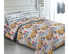 Completo letto lenzuola matrimioniale TARGHE made in Italy VINTAGE
