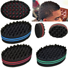 Curling Sponge Twist Locking Hair Brush Barber Wave Sided Double Afro Coil
