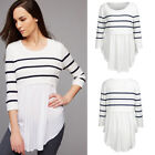 Breastfeeding Nursing Tops Pregnant Maternity T-Shirt 3/4 Sleeve Womens Clothes