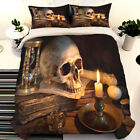 Skull Candle Duvet Cover Bedding Set Queen King Quilt Cover Pillow Case HD Print image