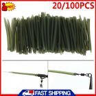 100PC Terminal Carp Fishing Anti Tangle Sleeves Connect With Fishing Hook Sleeve