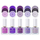 6ml BORN PRETTY Nail Art Stamping Printing Varnish  Purple Color Series