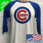 CHICAGO CUBS, ***CHAMPS*** RAGLAN JERSEY on Ebay