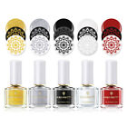 6ml BORN PRETTY Stamping Polish Varnish Gold Nail Art Plate White Night Series