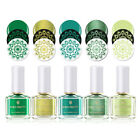 6ml BORN PRETTY Nail Art Stamping Polish Green Plate Melody Life Stamping Series