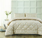 NEW 3 Piece Cream Dorset Jacquard Comforter Set Accessorize