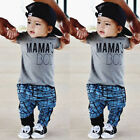 US Toddler Kid Baby Boy Top T-shirt+Stripe Harem Pant Leggings Outfits Clothes