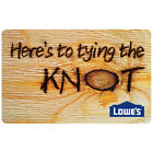 Lowes Gift Card $500, Classic Wedding Birthday Thank You. Select Your Design. For Sale