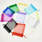1-100pcs Luxury Organza Gift Bags Jewellery Pouches Xmas Wedding Party Candy Bag