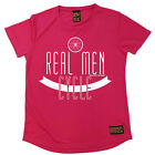 Ladies Cycling Real Men Cycle Breathable sports T SHIRT DRY FIT R NECK T-SHIRT