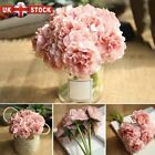 5 Heads Bunch Artifical Peony Silk Flower Bouquet Hydrangea Wedding Home Decor