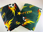 "Fleece Soccer Throw Blanket - 60"" x 70"" -- Black or Green Available! image"