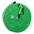 Latex 25 50 75 100 FT Expanding Flexible Garden Water Hose with Spray Nozzle BL