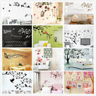 Tree Leaves Flowers Decor Removable Wall Sticker Bedroom Backdrop Art Decal DIY