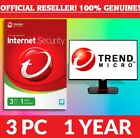 Trend Micro Maximum or Trend Micro Internet Security 2018 - 3 User, 1 Year