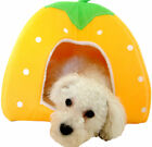 Soft Strawberry Pet Dog Cat Bed House Kennel Doggy indoor Warm Cushion Basket