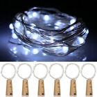 6Pcs LED String Battery Operated Copper Wine Bottle Wire Fairy Lights Party