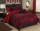 8 Piece Tang Jacquard Fabric Patchwork Comforter Set Queen King CalKing Size image