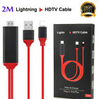 2M LIGHTNING CONNECT TO HDMI TV AV Cable Adapter For iPhone 6/6S/7/7+/8/8+/X