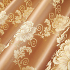 Gold Embroidery Sheer Curtains Jacquard Shading Blue Cloth Window Drapes 63/84""