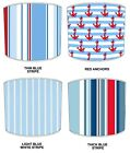 Lampshades Ideal To Match Nautical Stripe Cushions & Sailing Boat Duvet Covers.