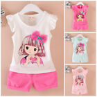 Kids toddler summer clothes baby girls cotton Tank short pants 2pcs outfits girl