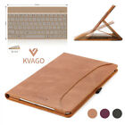 """KVAGO iPad Pro 10.5""""/Air 3 Sincere Leather Case Cover&Backlit Bluetooth Keyboard"""