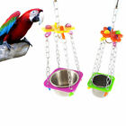 Bird Parrot Hanging Feed Drink Bowl Metal Bird Parrot Toys Innovative Unique Toy