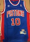 Dennis Rodman Pistons Jersey Detroit Blue Throwback Swingman Sewn/Stitched NWT on eBay
