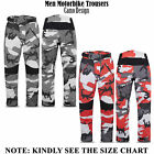 Mens Quality Motorcycle Cordura Camo Trousers Motorbike Textile Waterproof Pants
